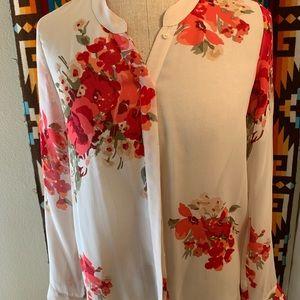 Joie Floral Silk Shirt Size XS